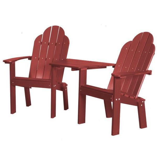 Little Cottage Co. Classic Deck Chair Tete-a-Tete Garden Benches Cardinal Red