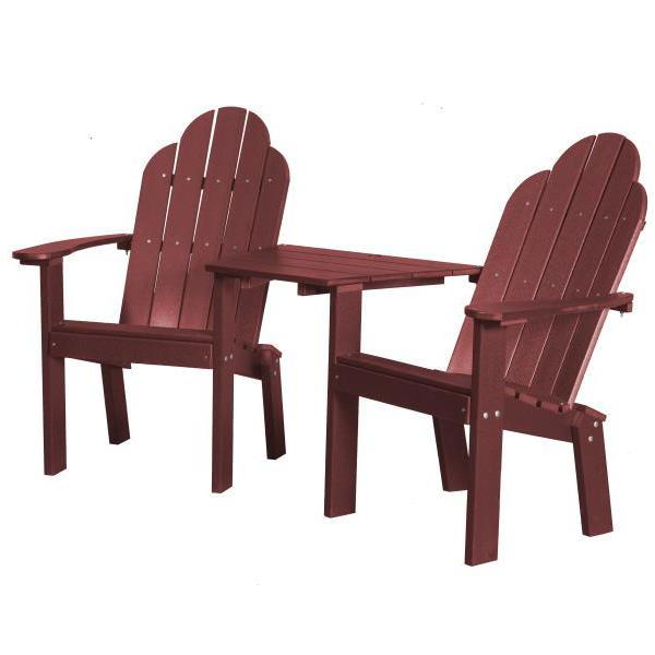 Little Cottage Co. Classic Deck Chair Tete-a-Tete Garden Benches Cherry Wood