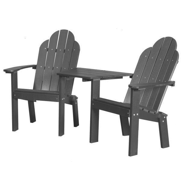 Little Cottage Co. Classic Deck Chair Tete-a-Tete Garden Benches Dark Grey