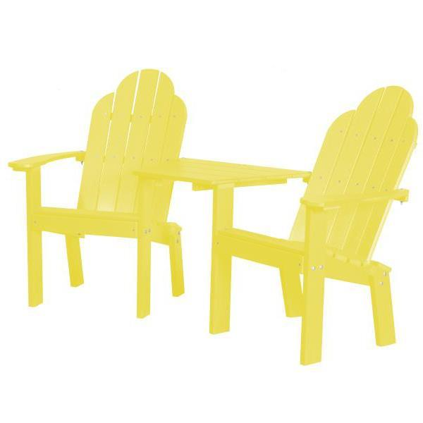 Little Cottage Co. Classic Deck Chair Tete-a-Tete Garden Benches Lemon Yellow
