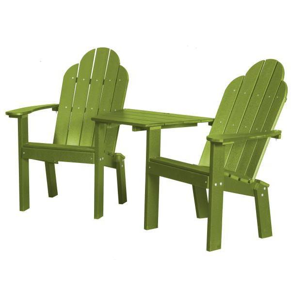 Little Cottage Co. Classic Deck Chair Tete-a-Tete Garden Benches Lime Green