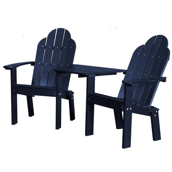 Little Cottage Co. Classic Deck Chair Tete-a-Tete Garden Benches Patriot Blue