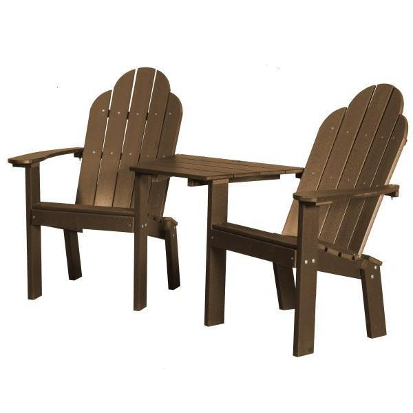 Little Cottage Co. Classic Deck Chair Tete-a-Tete Garden Benches Tudor Brown