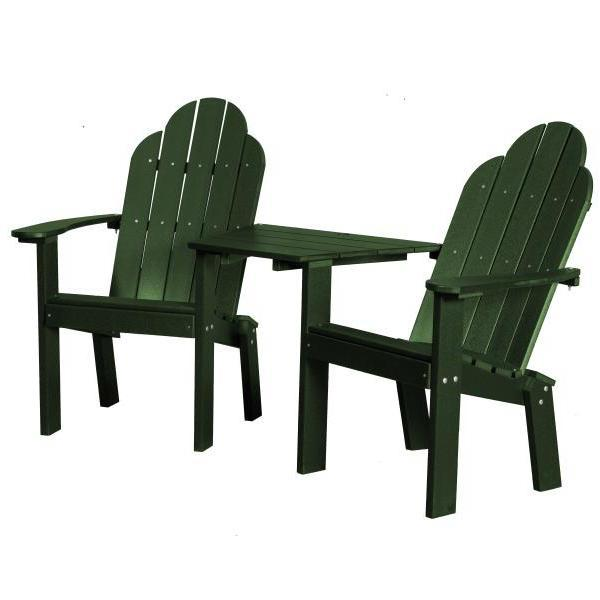 Little Cottage Co. Classic Deck Chair Tete-a-Tete Garden Benches Turf Green