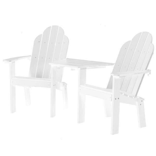 Little Cottage Co. Classic Deck Chair Tete-a-Tete Garden Benches White