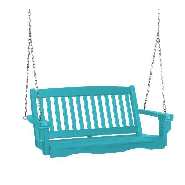 Little Cottage Co. Classic Mission 4' Eco Plastic Porch Swing Porch Swings Aruba / No