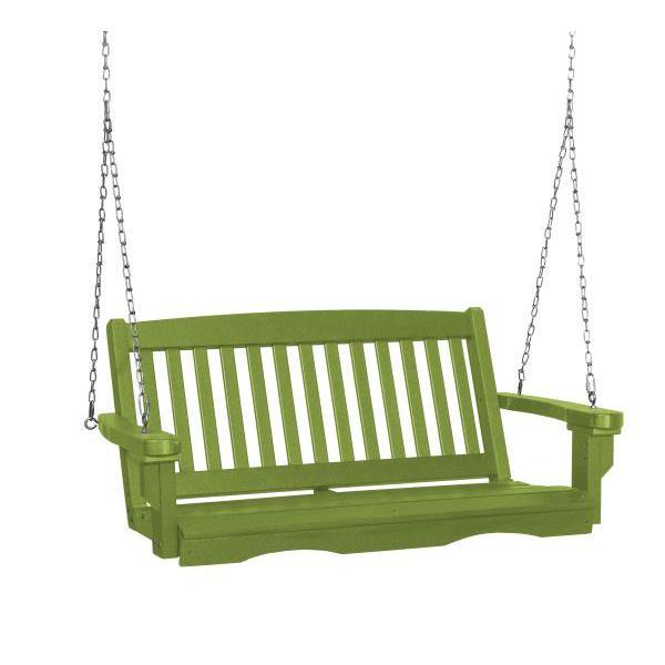 Little Cottage Co. Classic Mission 4' Eco Plastic Porch Swing Porch Swings Lime / No
