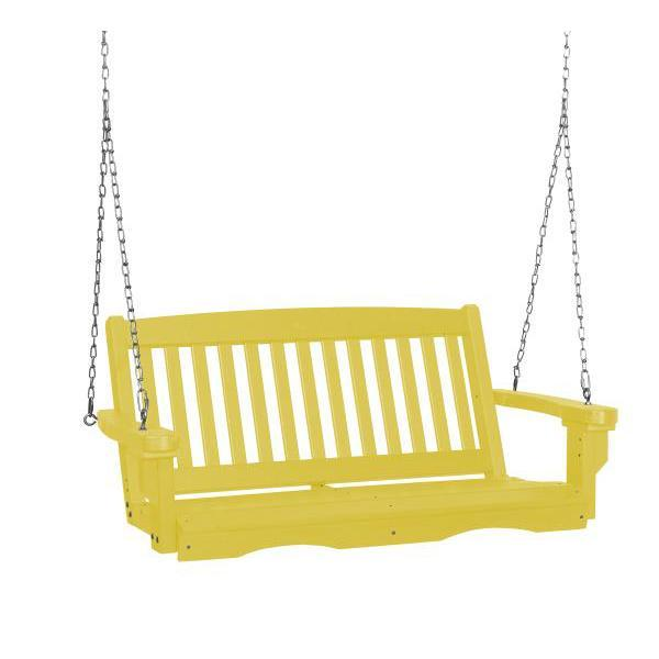 Little Cottage Co. Classic Mission 4' Eco Plastic Porch Swing Porch Swings Yellow / No