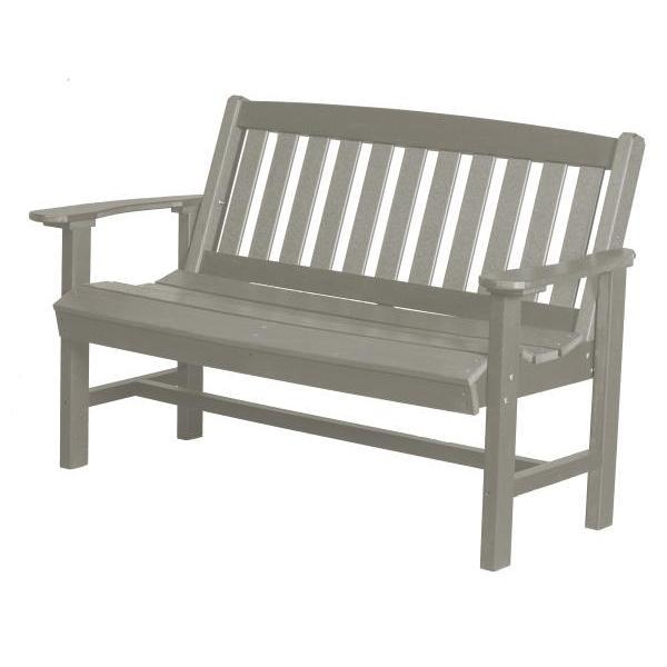 Little Cottage Co. Classic Mission 4ft Recycled Plastic Bench Garden Benches Light Gray