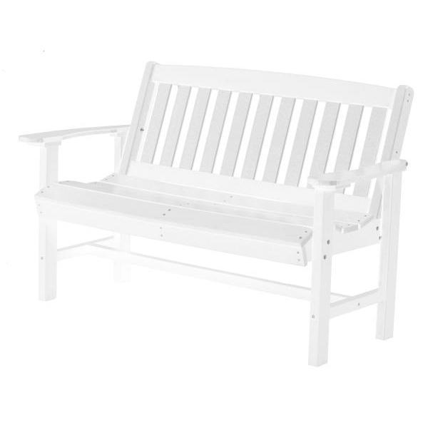 Little Cottage Co. Classic Mission 4ft Recycled Plastic Bench Garden Benches White