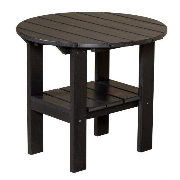 Little Cottage Co. Classic Round Side Table Side Table Black