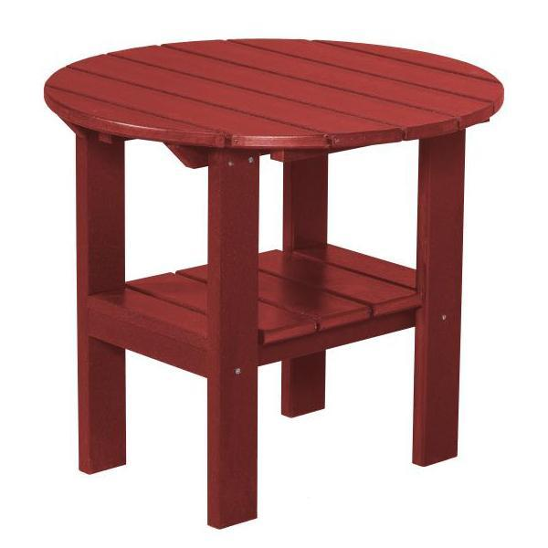 Little Cottage Co. Classic Round Side Table Side Table Cardinal Red