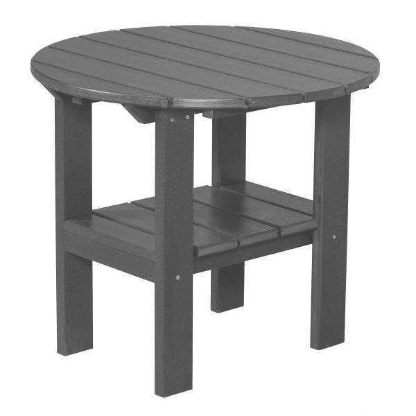 Little Cottage Co. Classic Round Side Table Side Table Dark Gray