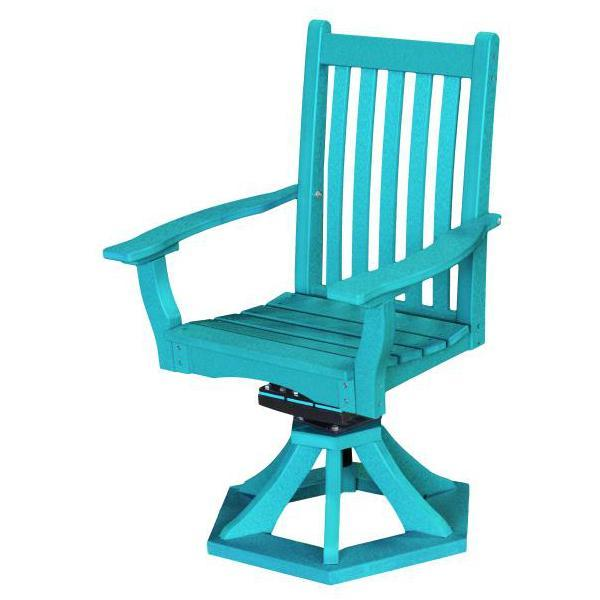 Little Cottage Co. Classic Swivel Rocker Side Chair Chair Aruba Blue