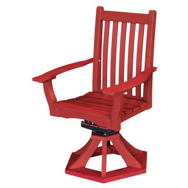 Little Cottage Co. Classic Swivel Rocker Side Chair Chair Cardinal Red