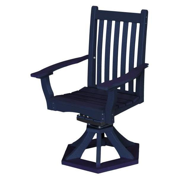 Little Cottage Co. Classic Swivel Rocker Side Chair Chair Patriot Blue