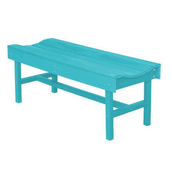 Little Cottage Co. Classic Vineyard 4ft Backless Bench Garden Benches Aruba Blue