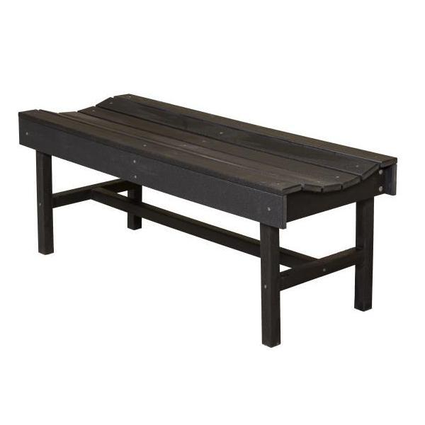 Little Cottage Co. Classic Vineyard 4ft Backless Bench Garden Benches Black