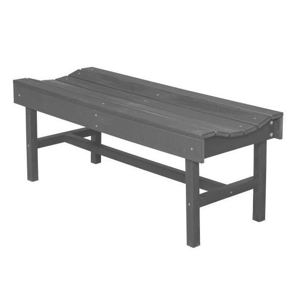 Little Cottage Co. Classic Vineyard 4ft Backless Bench Garden Benches Dark Gray