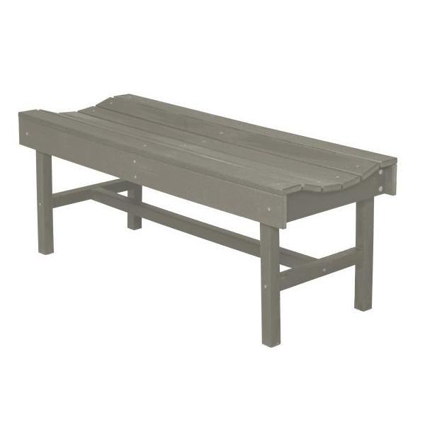 Little Cottage Co. Classic Vineyard 4ft Backless Bench Garden Benches Light Gray