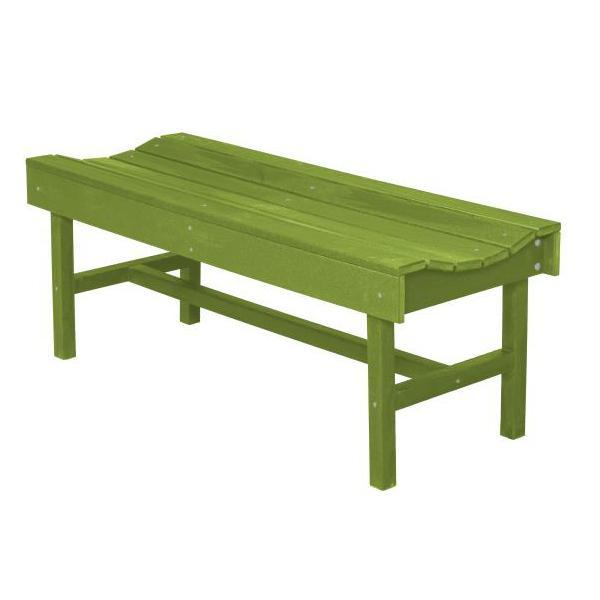 Little Cottage Co. Classic Vineyard 4ft Backless Bench Garden Benches Lime Green