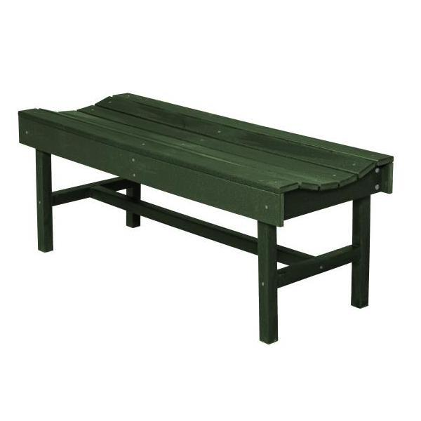 Little Cottage Co. Classic Vineyard 4ft Backless Bench Garden Benches Turf Green