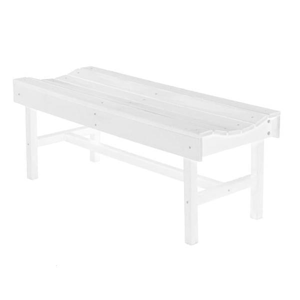 Little Cottage Co. Classic Vineyard 4ft Backless Bench Garden Benches White