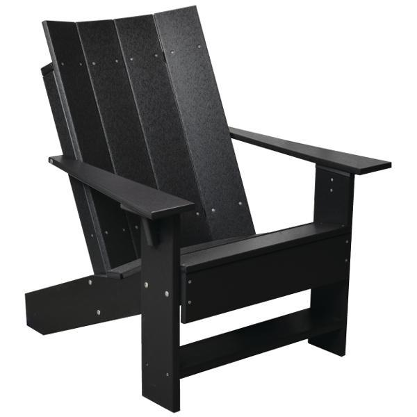 Little Cottage Co. Contemporary Adirodack Chair Chair Black