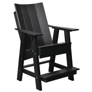 Little Cottage Co. Contemporary High Adirondack Chair Chair Black