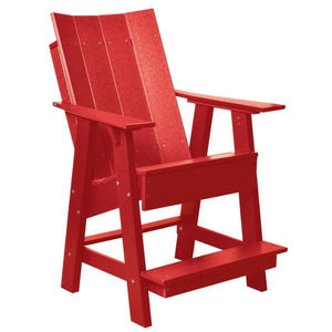 Little Cottage Co. Contemporary High Adirondack Chair Chair Bright Red