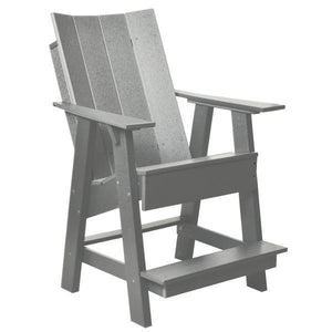 Little Cottage Co. Contemporary High Adirondack Chair Chair Light Gray