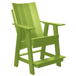 Little Cottage Co. Contemporary High Adirondack Chair Chair Lime Green