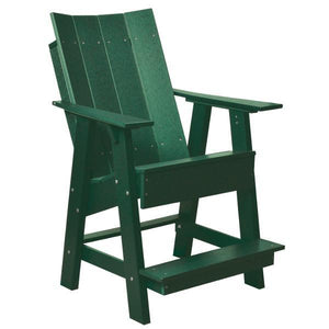 Little Cottage Co. Contemporary High Adirondack Chair Chair Turf Green