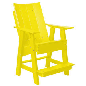 Little Cottage Co. Contemporary High Adirondack Chair Chair Yellow