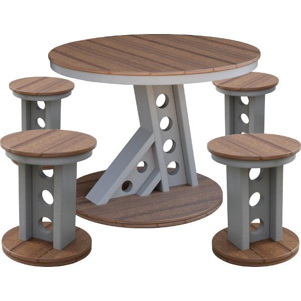 Little Cottage Co. Contemporary Manhattan Rise Table & 4 Bar Stools Table