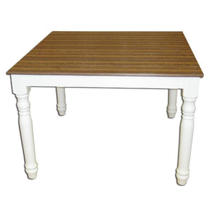 Little Cottage Co. Farm Table Table Bark & White