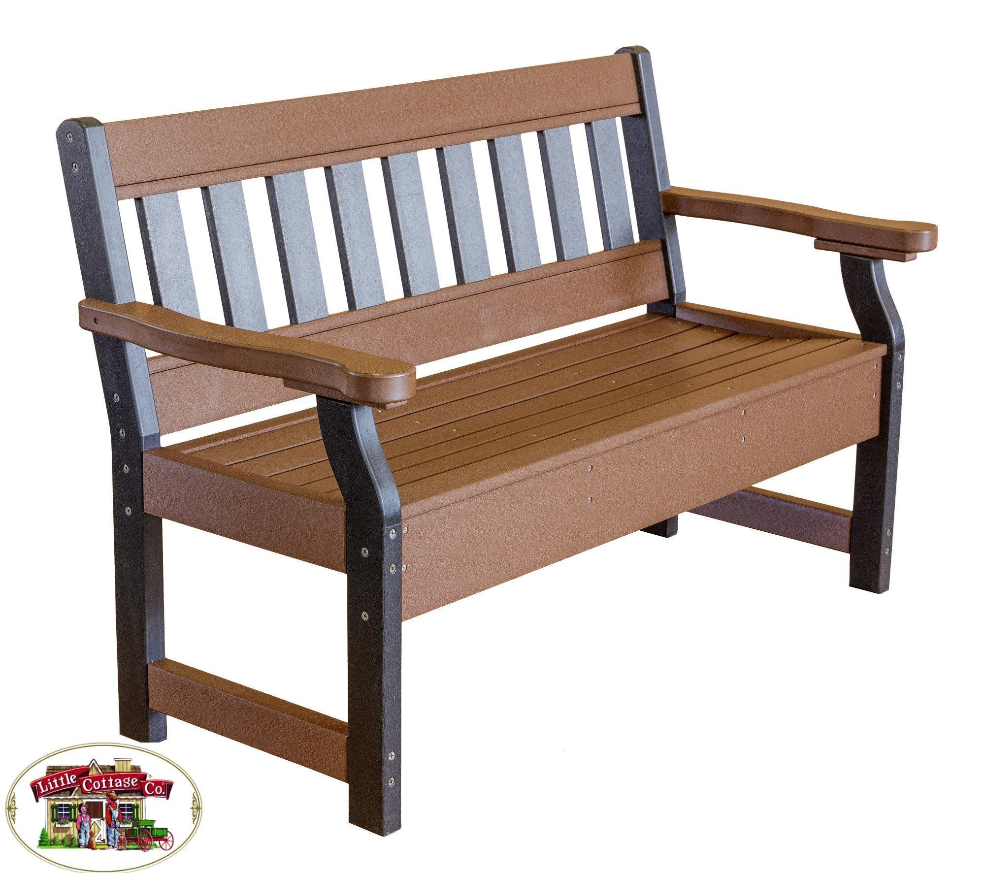 Little Cottage Co. Heritage 4ft. Recycled Plastic Garden Bench Garden Benches Black