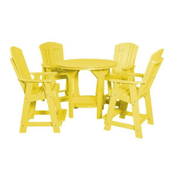 Little Cottage Co. Heritage 5 Piece Pub Set Dining Set Lemon Yellow