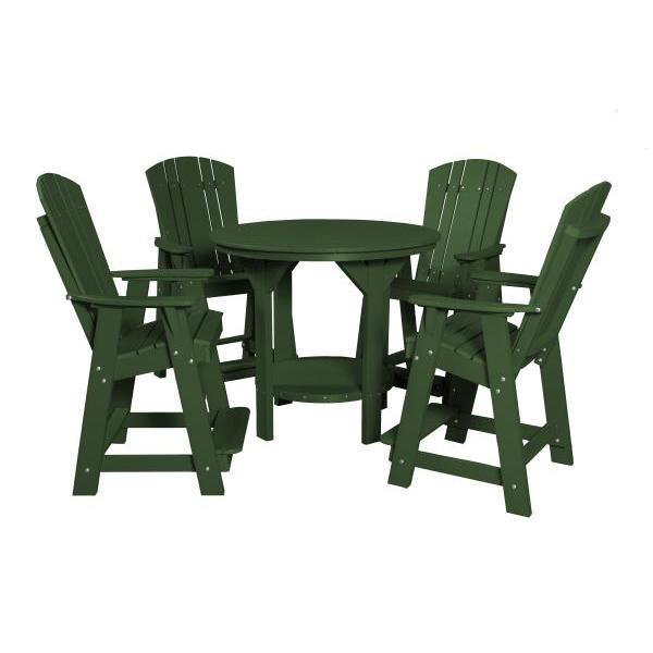 Little Cottage Co. Heritage 5 Piece Pub Set Dining Set Turf Green