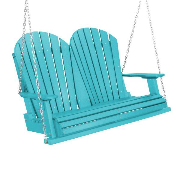 Little Cottage Co. Heritage Adirondack 4ft. Plastic Garden Swing Porch Swings Aruba / Yes