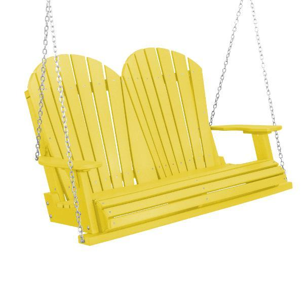 Little Cottage Co. Heritage Adirondack 4ft. Plastic Garden Swing Porch Swings Lemon Yellow / No