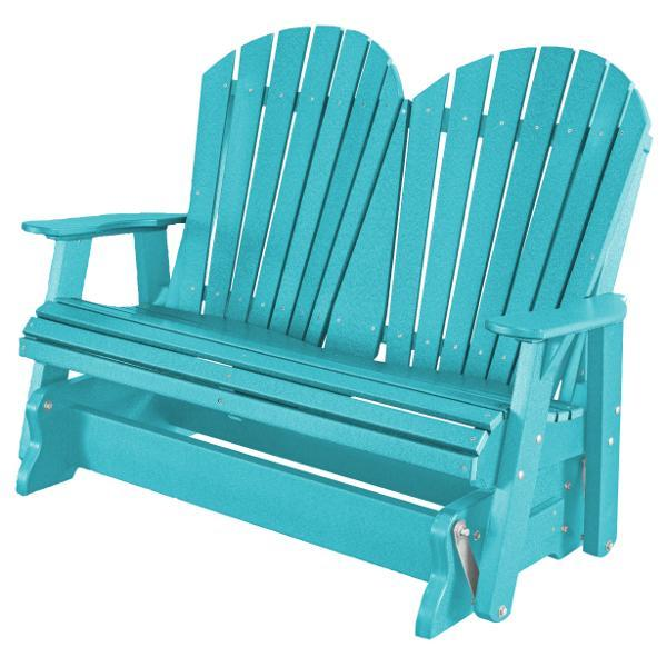 Little Cottage Co. Heritage Adirondack 4ft. Recycled Plastic Glider Gliders Aruba