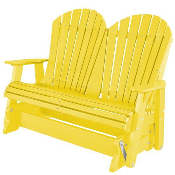 Little Cottage Co. Heritage Adirondack 4ft. Recycled Plastic Glider Gliders Lemon Yellow