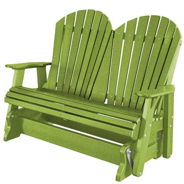 Little Cottage Co. Heritage Adirondack 4ft. Recycled Plastic Glider Gliders Lime Green