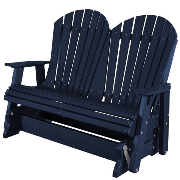 Little Cottage Co. Heritage Adirondack 4ft. Recycled Plastic Glider Gliders Patriot Blue
