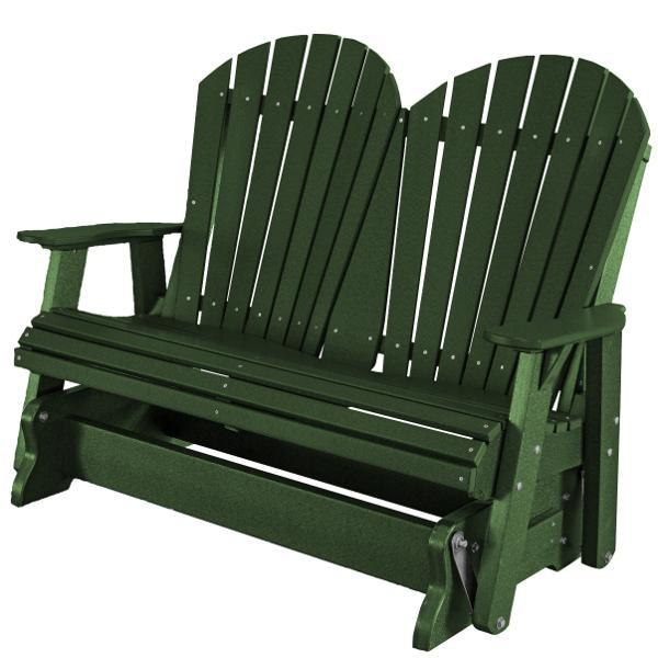 Little Cottage Co. Heritage Adirondack 4ft. Recycled Plastic Glider Gliders Turf Green