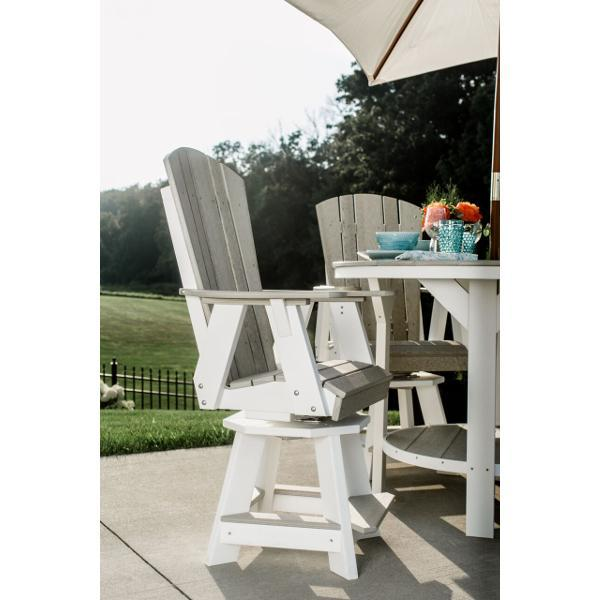 Little Cottage Co. Heritage Balcony Swivel Chair Swivel Chair Sand White