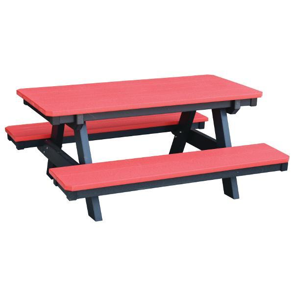 Little Cottage Co. Heritage Child's Picnic Table Bright Red-Black