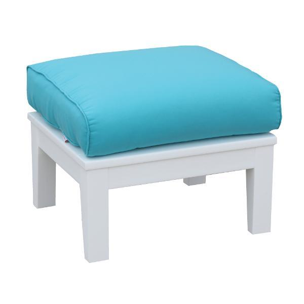 Little Cottage Co. Heritage Deep Seating Ottoman Ottoman White with Aruba