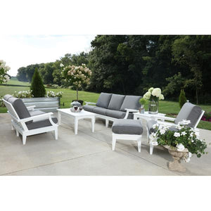 Little Cottage Co. Heritage Deep Seating Sofa Garden Benches White with Aruba